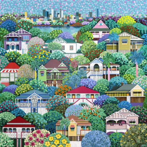 A Dash of Lime - Painting Brisbane Cityscape